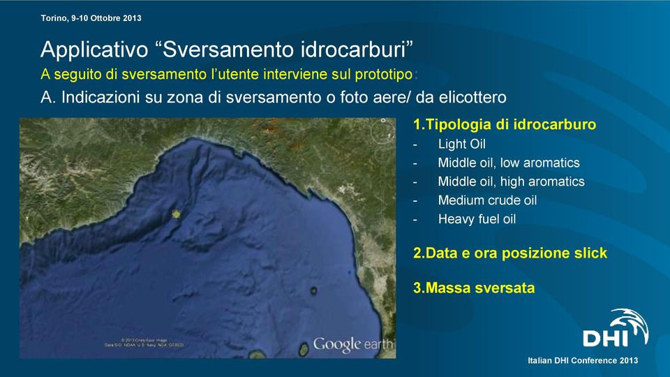 Tipologia di idrocarburo - Light Oil - Middle oil, low aromatics - Middle oil, high