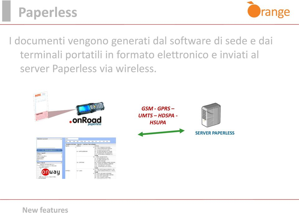 elettronico e inviati al server Paperless via