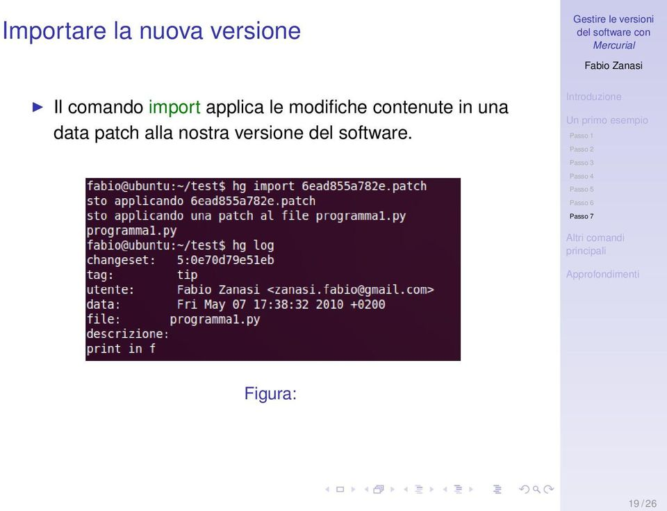 contenute in una data patch alla