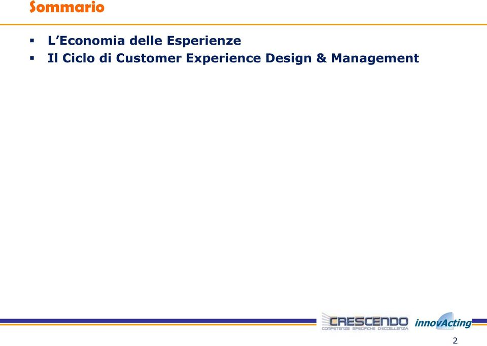 Ciclo di Customer