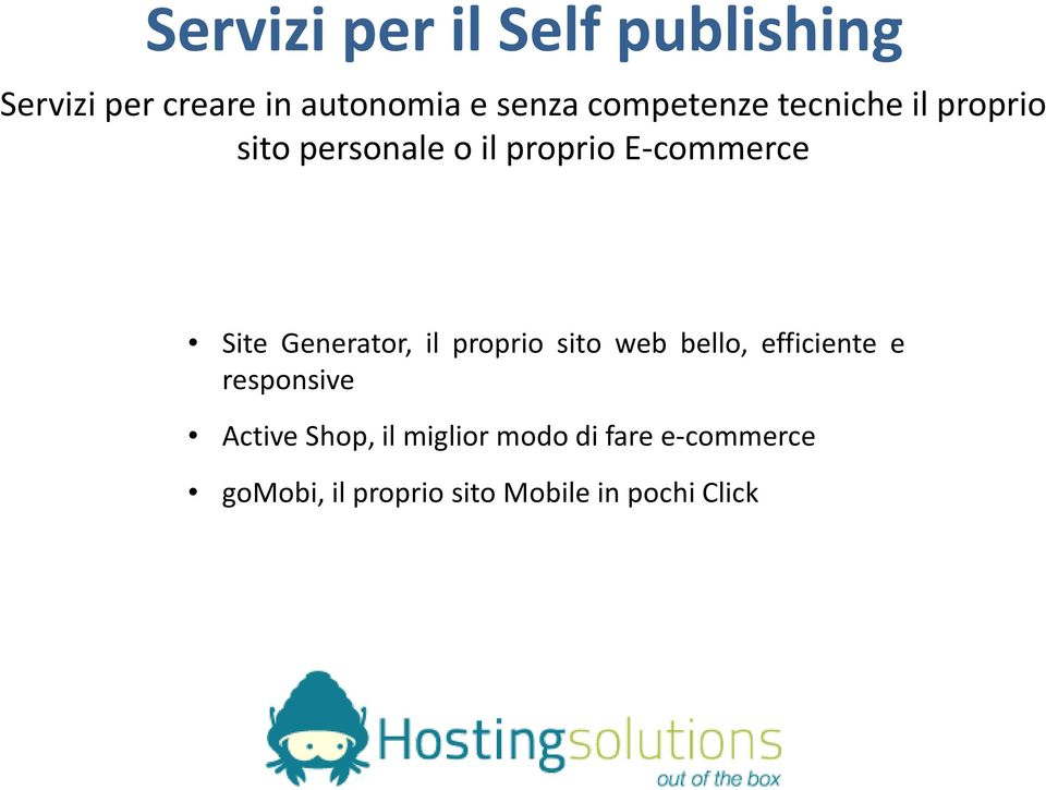 Generator, il proprio sito web bello, efficiente e responsive Active Shop,