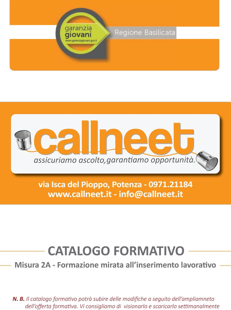 it CATALOGO FORMATIVO ti N. B.