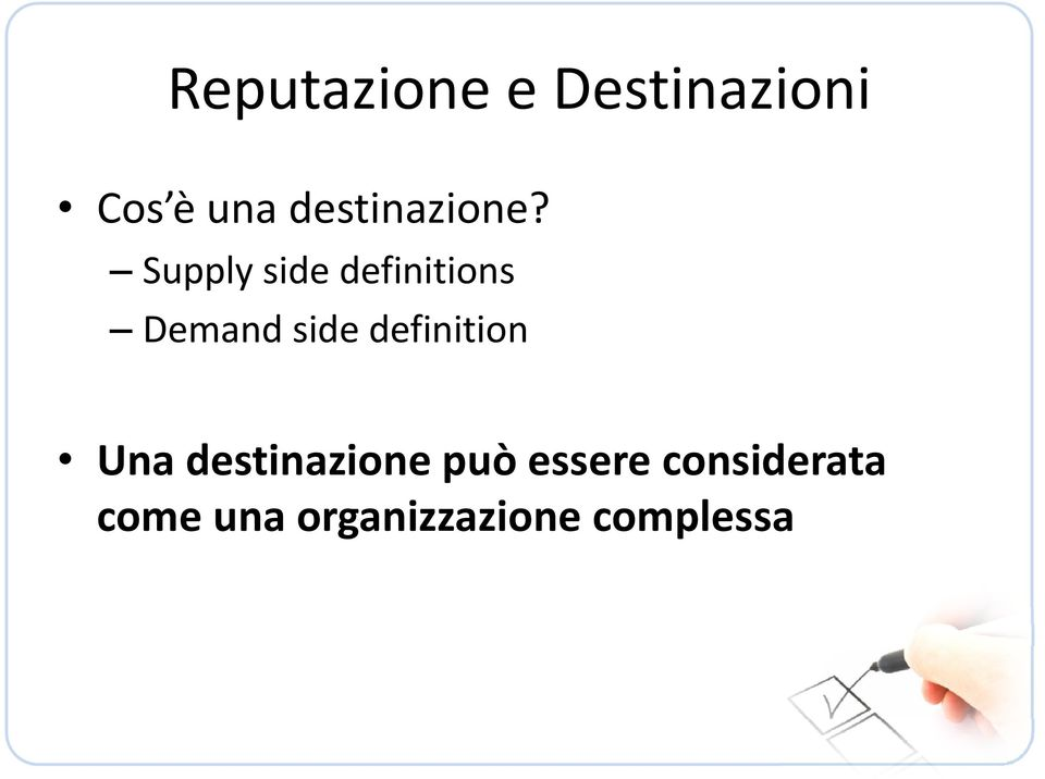 Supply side definitions Demand side
