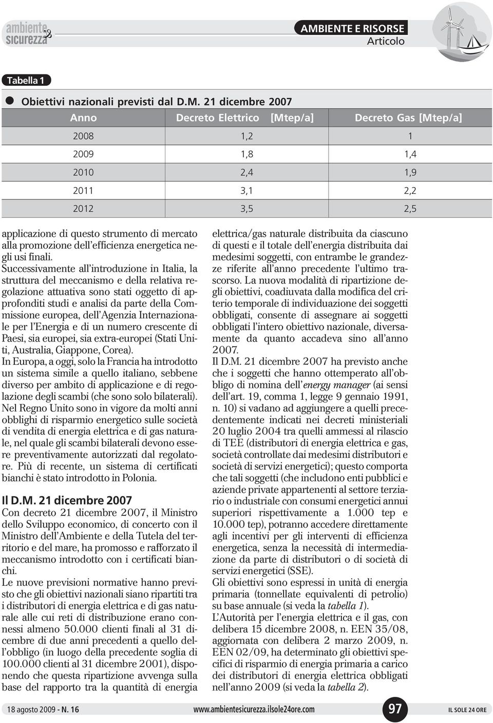 efficienza energetica negli usi finali.