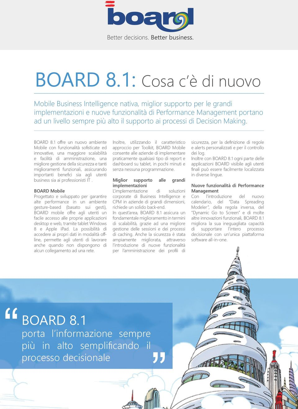 supporto ai processi di Decision Making. BOARD 8.