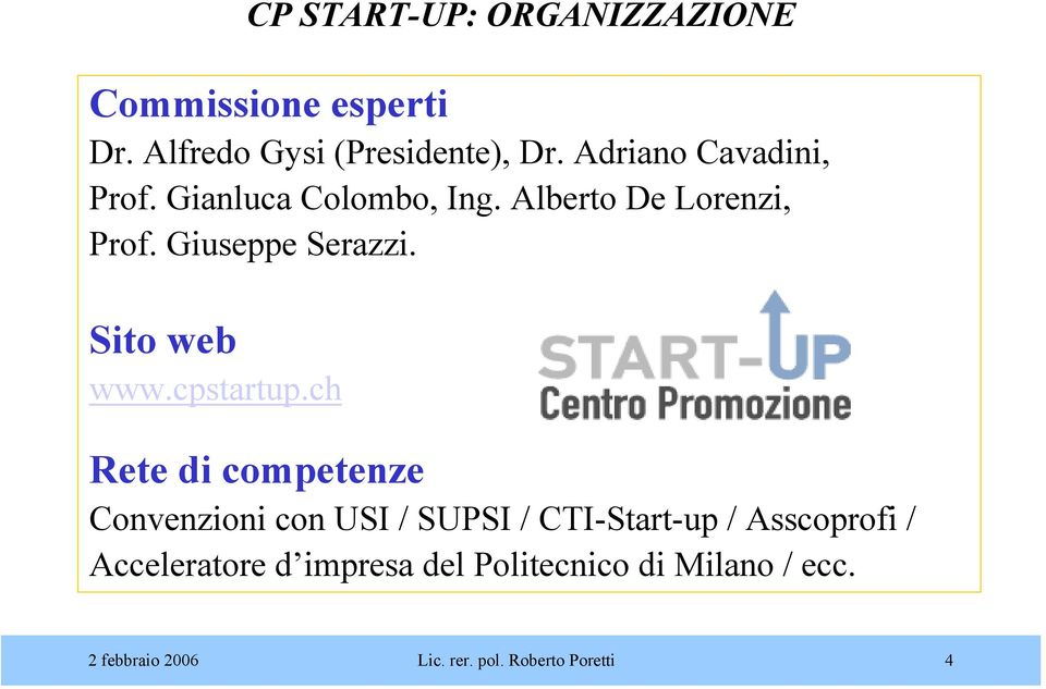 Sito web www.cpstartup.