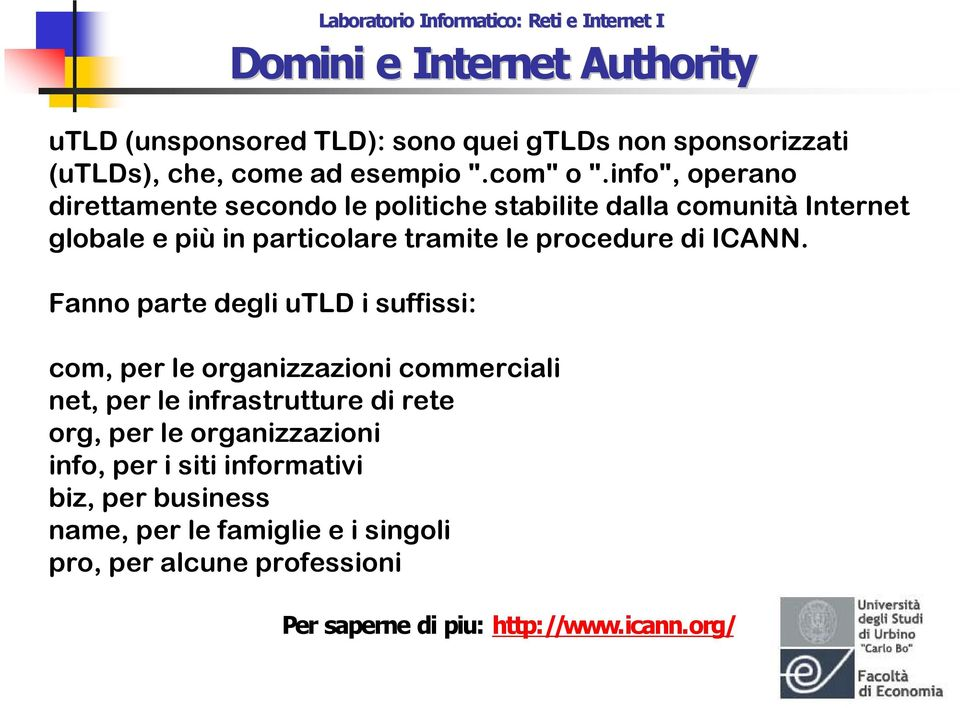 procedure di ICANN.