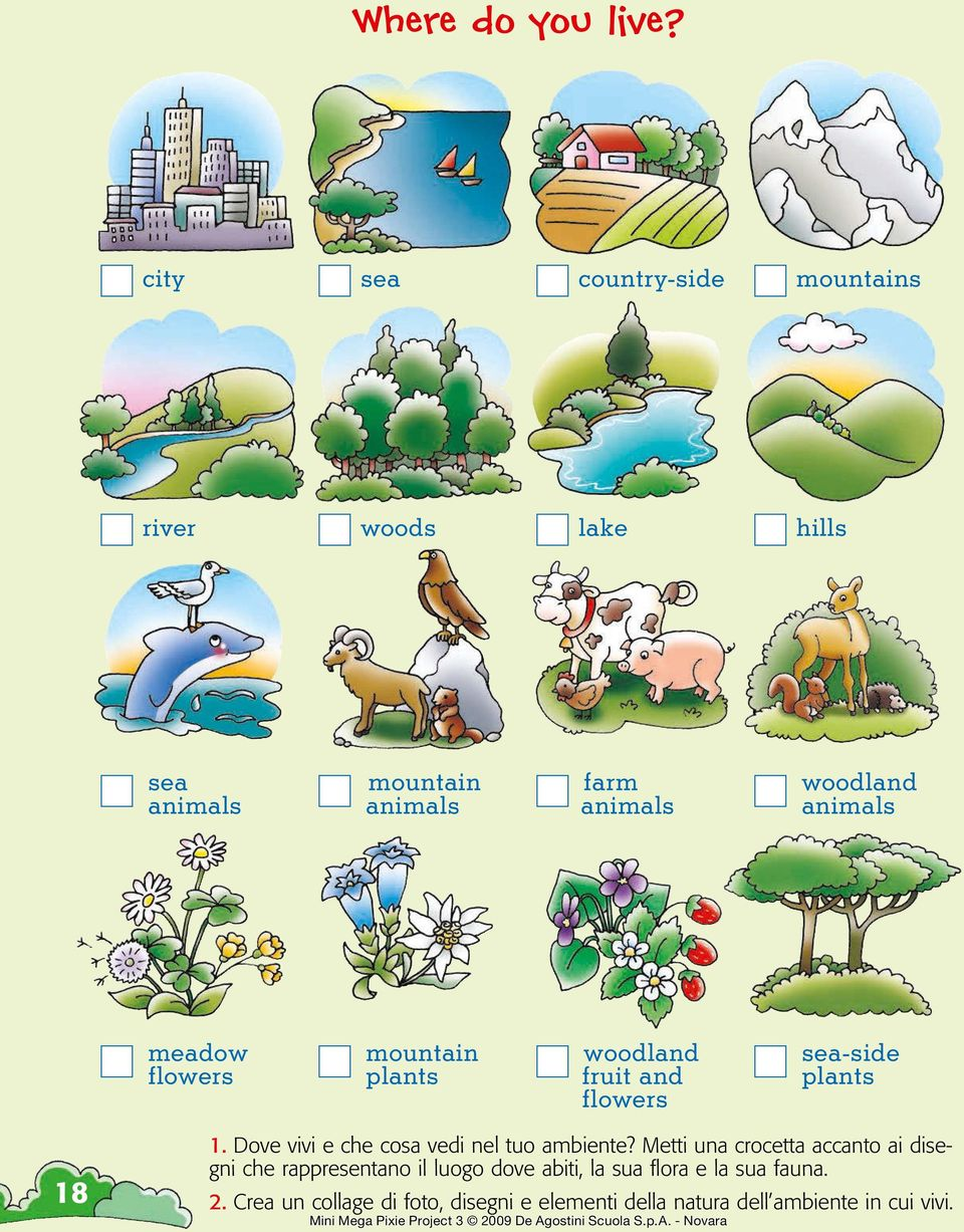 animals meadow flowers mountain plants woodland fruit and flowers sea-side plants 18 1.