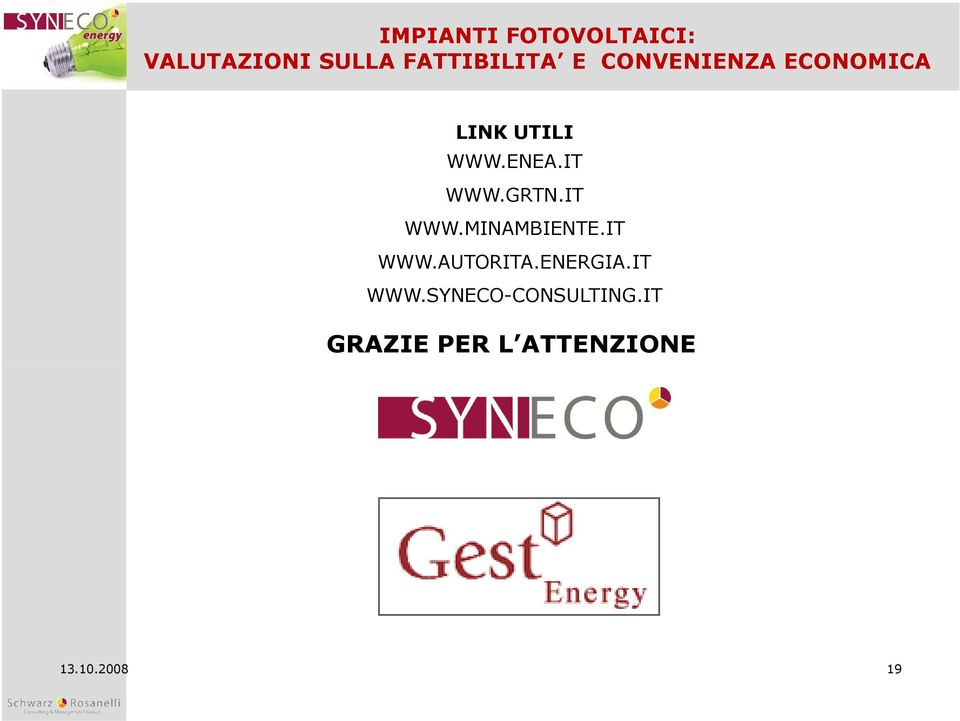 ENERGIA.IT WWW.SYNECO-CONSULTING.
