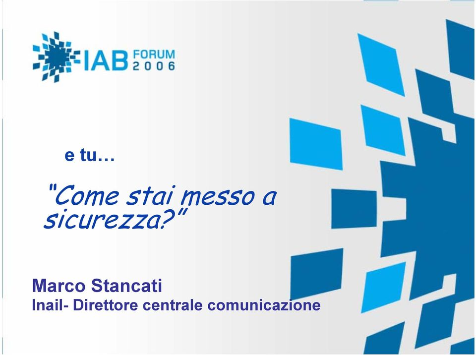 Marco Stancati Inail-