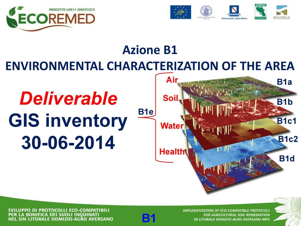 B1a Deliverable GIS inventory B1e