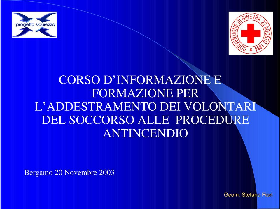 SOCCORSO ALLE PROCEDURE ANTINCENDIO