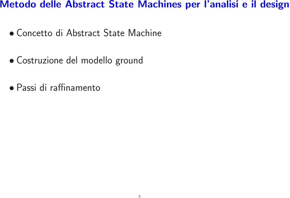 Abstract State Machine Costruzione