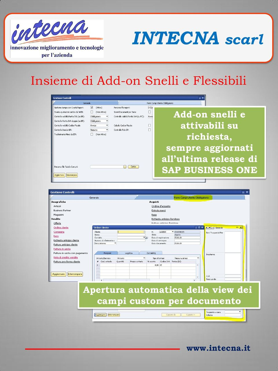 aggiornati all ultima rlas di SAP BUSINESS