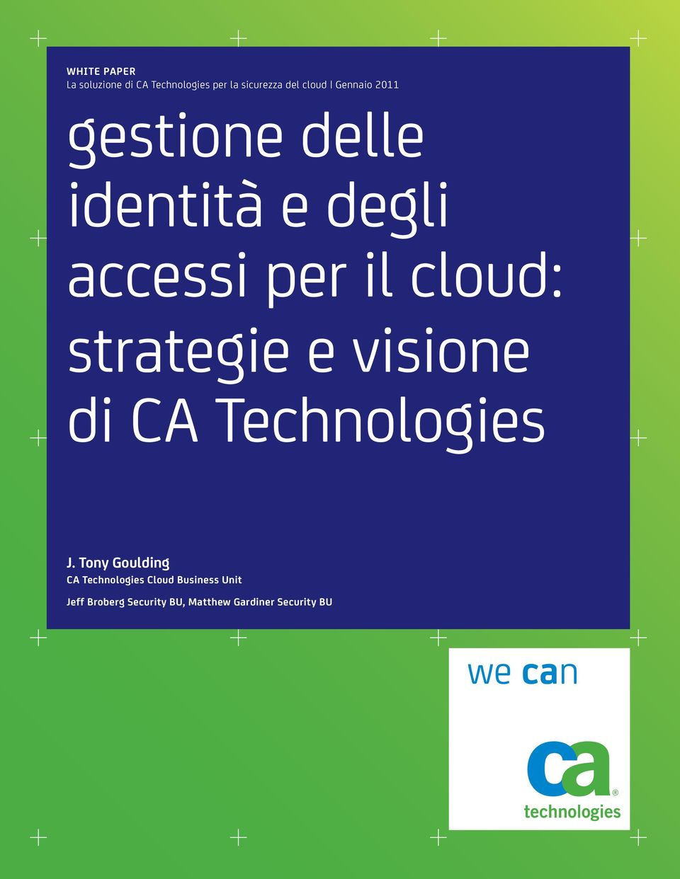 strategie e visione di CA Technologies J.