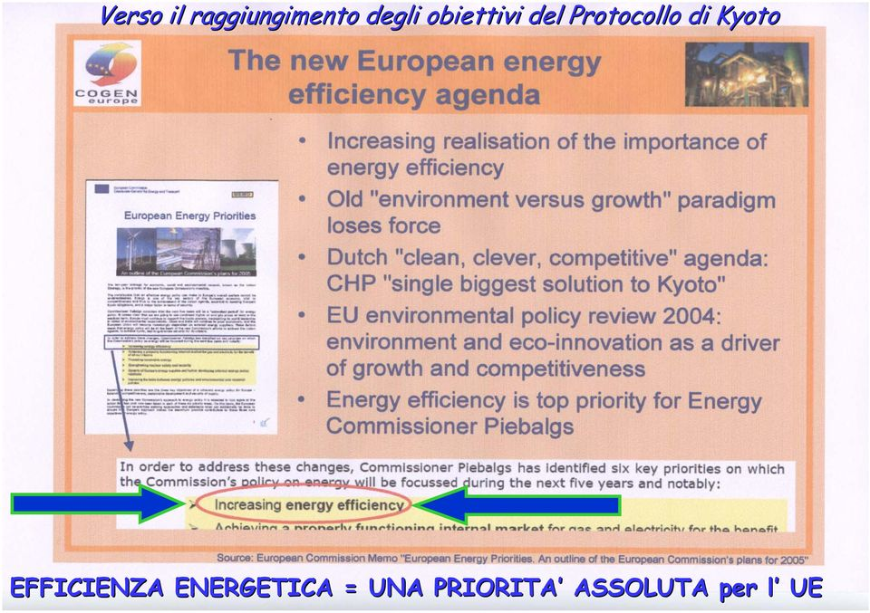 Kyoto EFFICIENZA ENERGETICA =