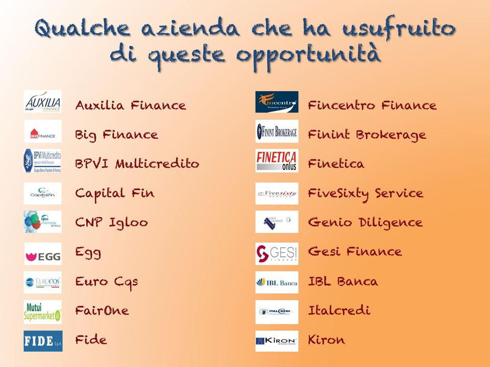 Euro Cqs FairOne Fide Fincentro Finance Finint Brokerage Finetica