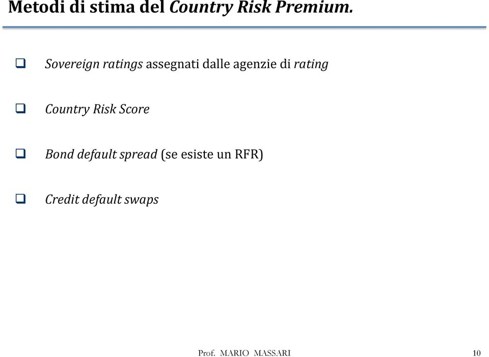di rating Country Risk Score Bond default