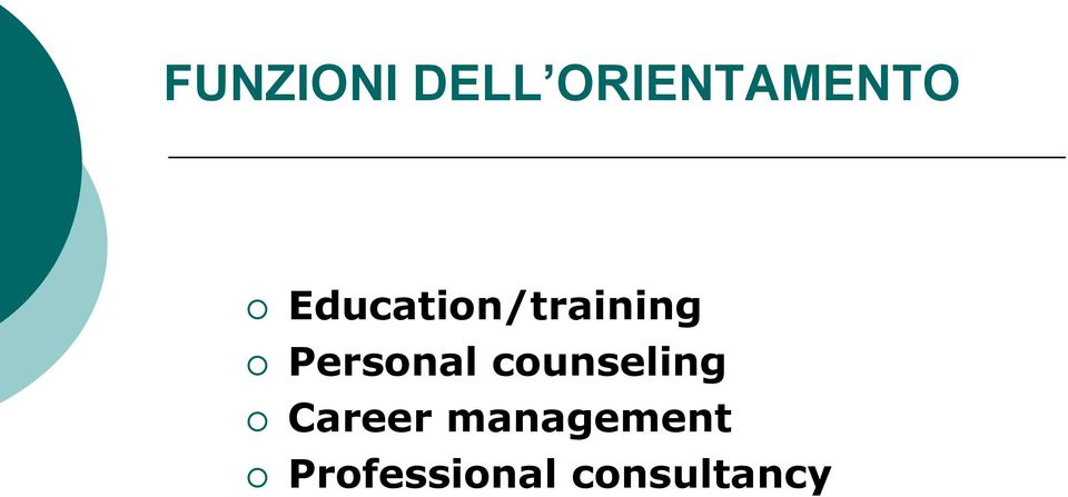 Personal counseling Career