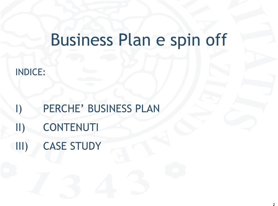 BUSINESS PLAN II)