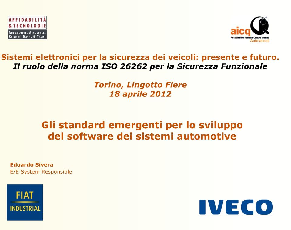 software dei sistemi automotive