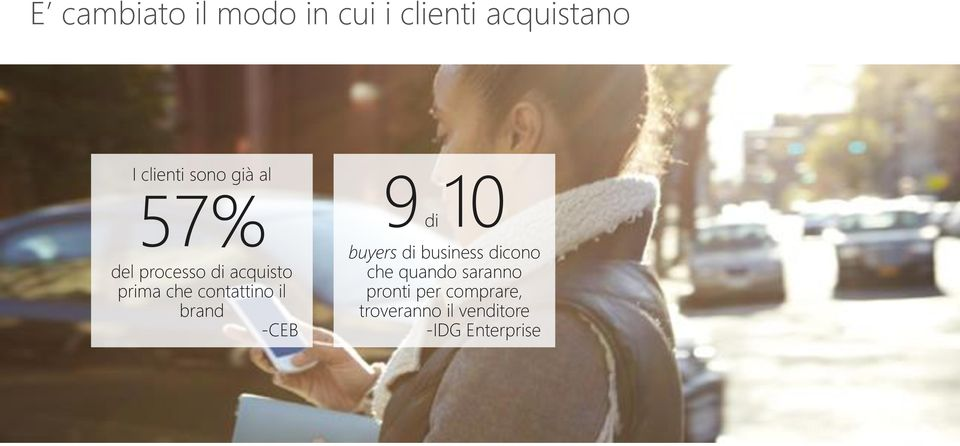 brand -CEB 9di 10 buyers di business dicono che quando
