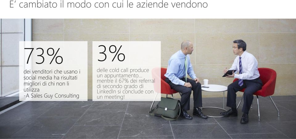 Sales Guy Consulting 3% delle cold call produce un appuntamento mentre