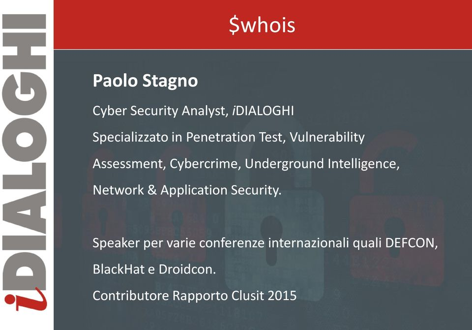 Intelligence, Network & Application Security.