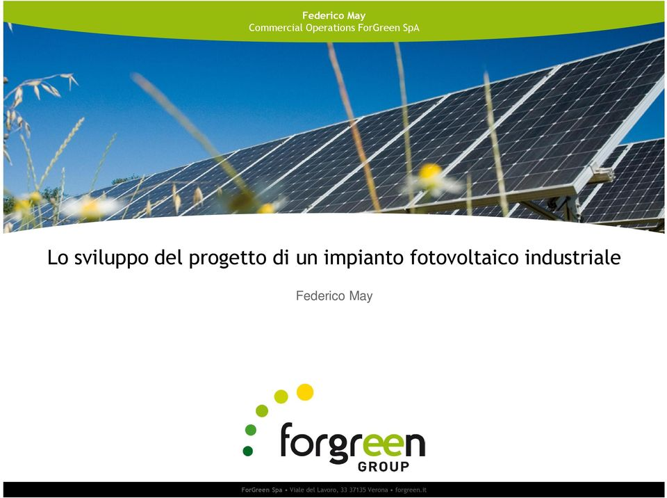 fotovoltaico industriale Federico May