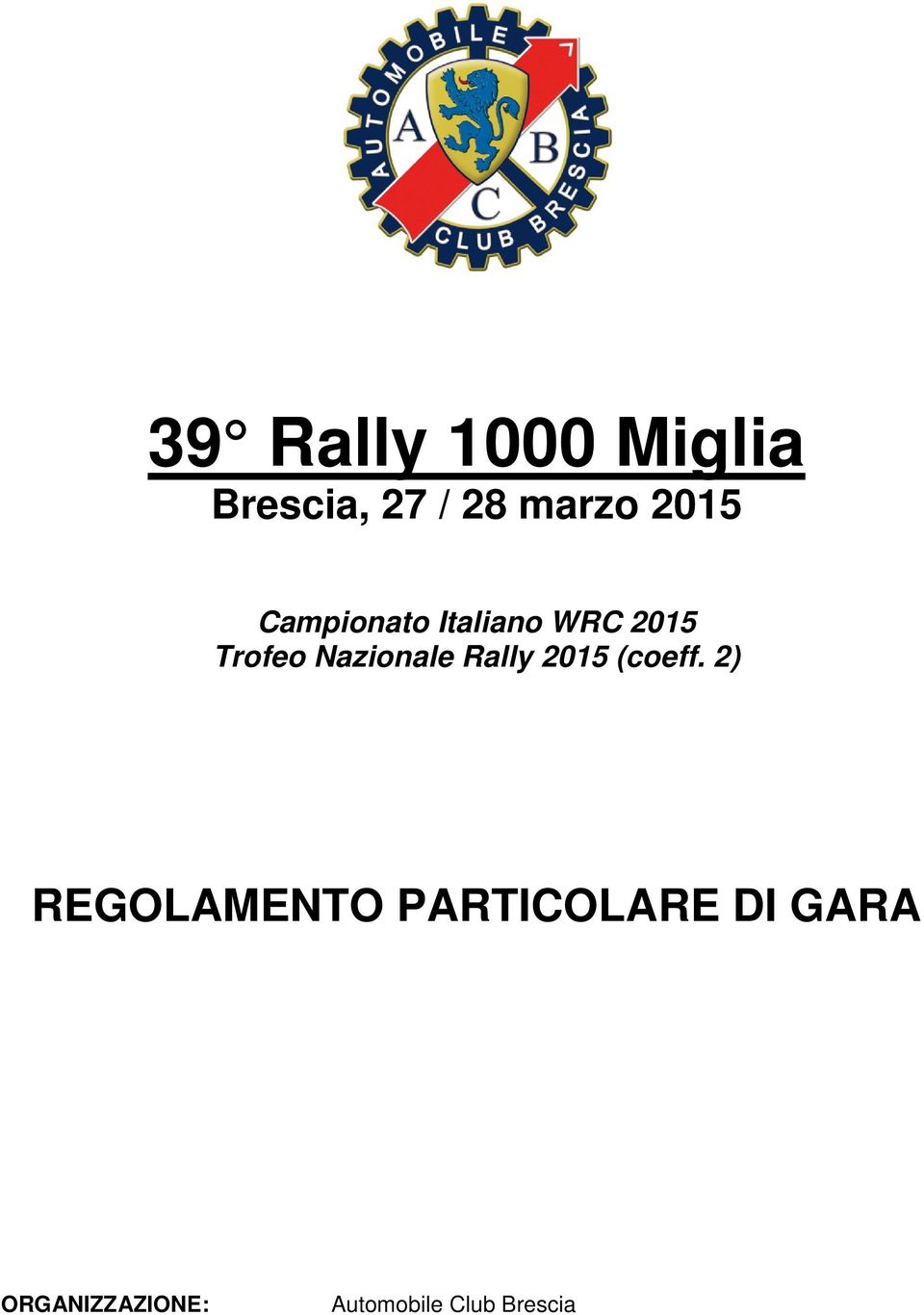 Nazionale Rally 2015 (coeff.