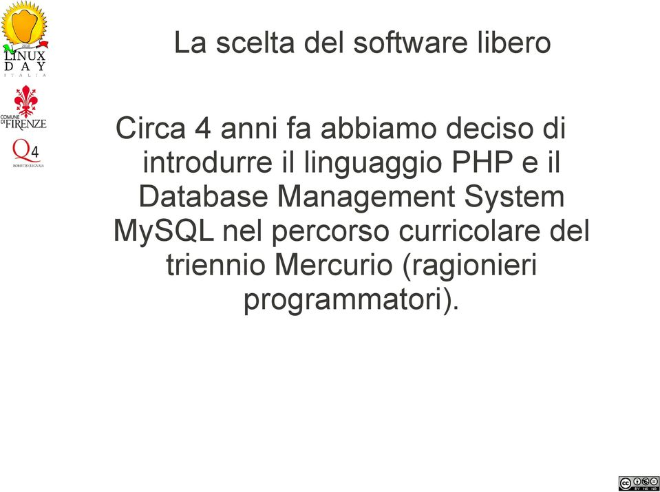 Database Management System MySQL nel percorso