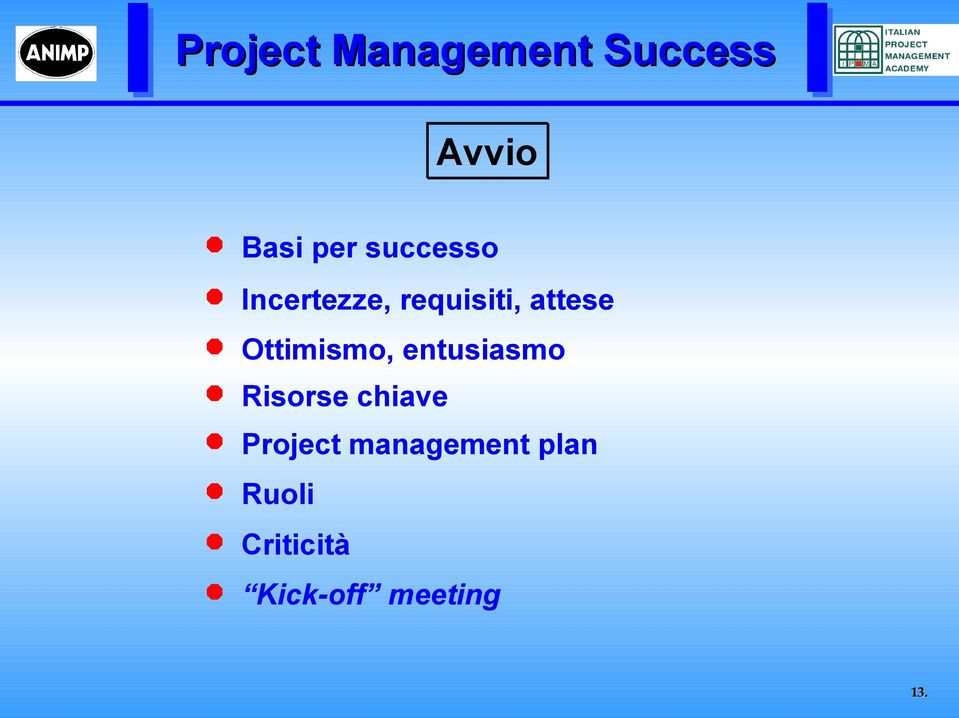 entusiasmo Risorse chiave Project