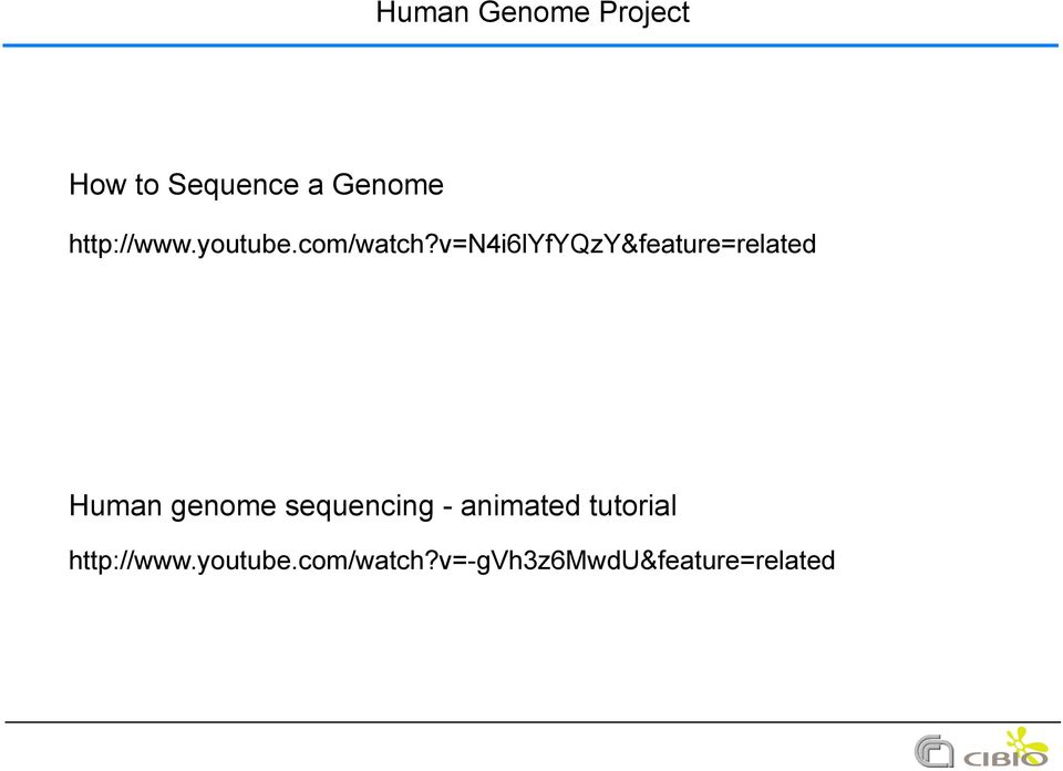 v=n4i6lyfyqzy&feature=related Human genome