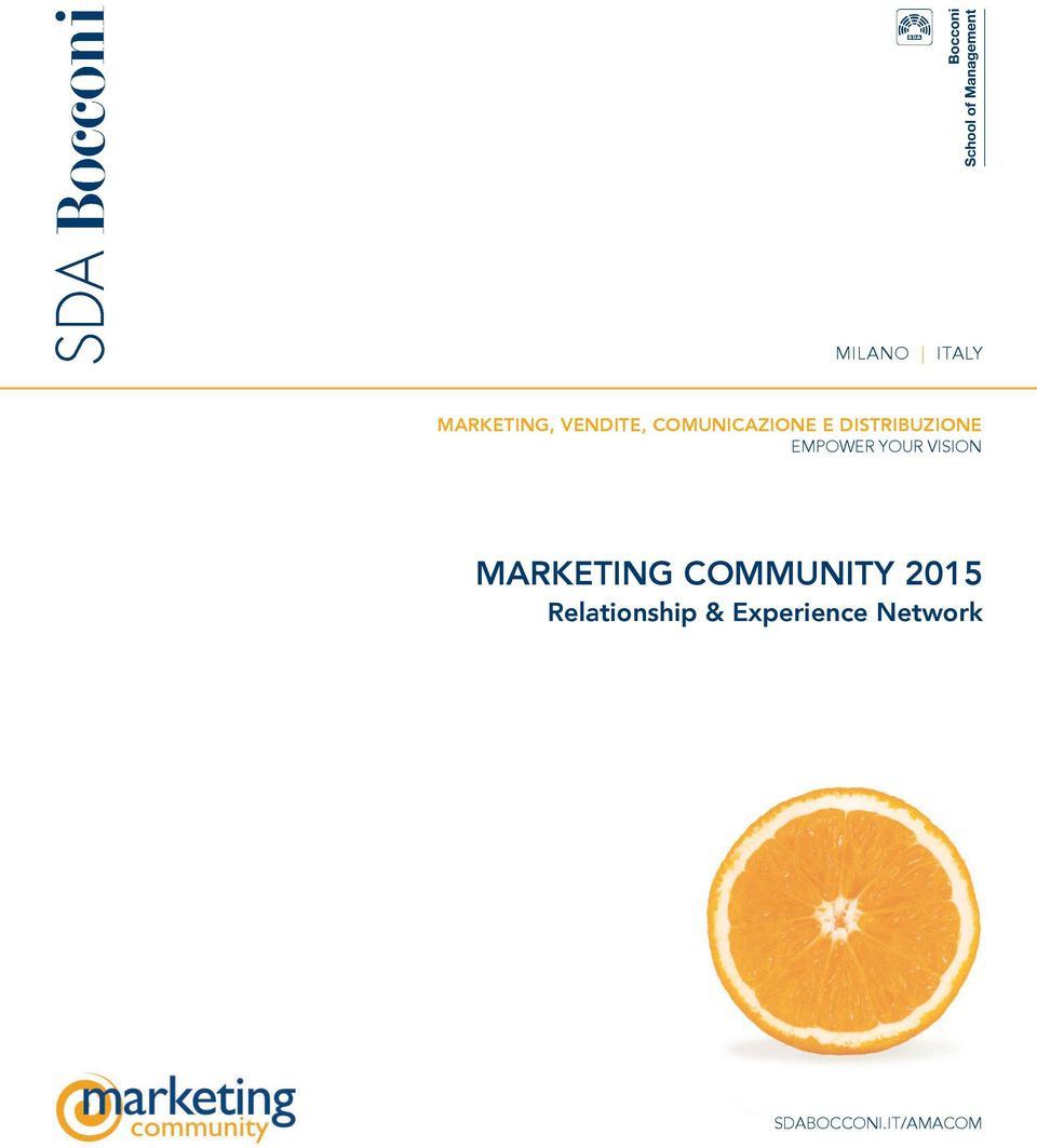 YoUR Vision Marketing CoMMunity 2015