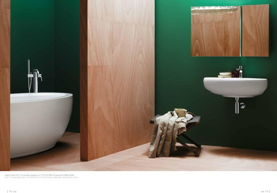 Clas bath-tub, CLA 200/75 cm 75 wall-hung