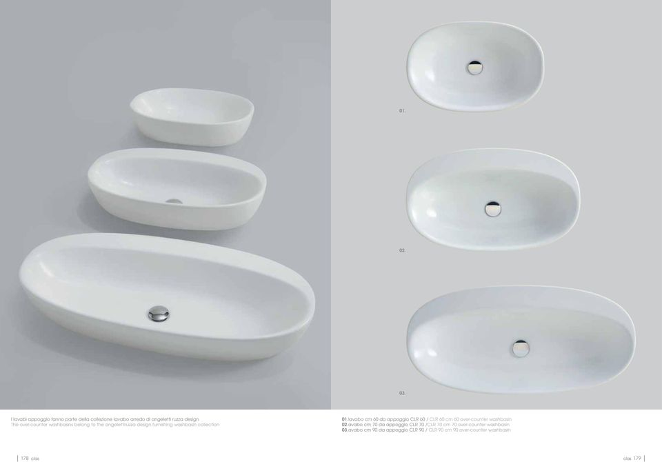 washbasins belong to the angelettiruzza design furnishing washbasin collection 01.