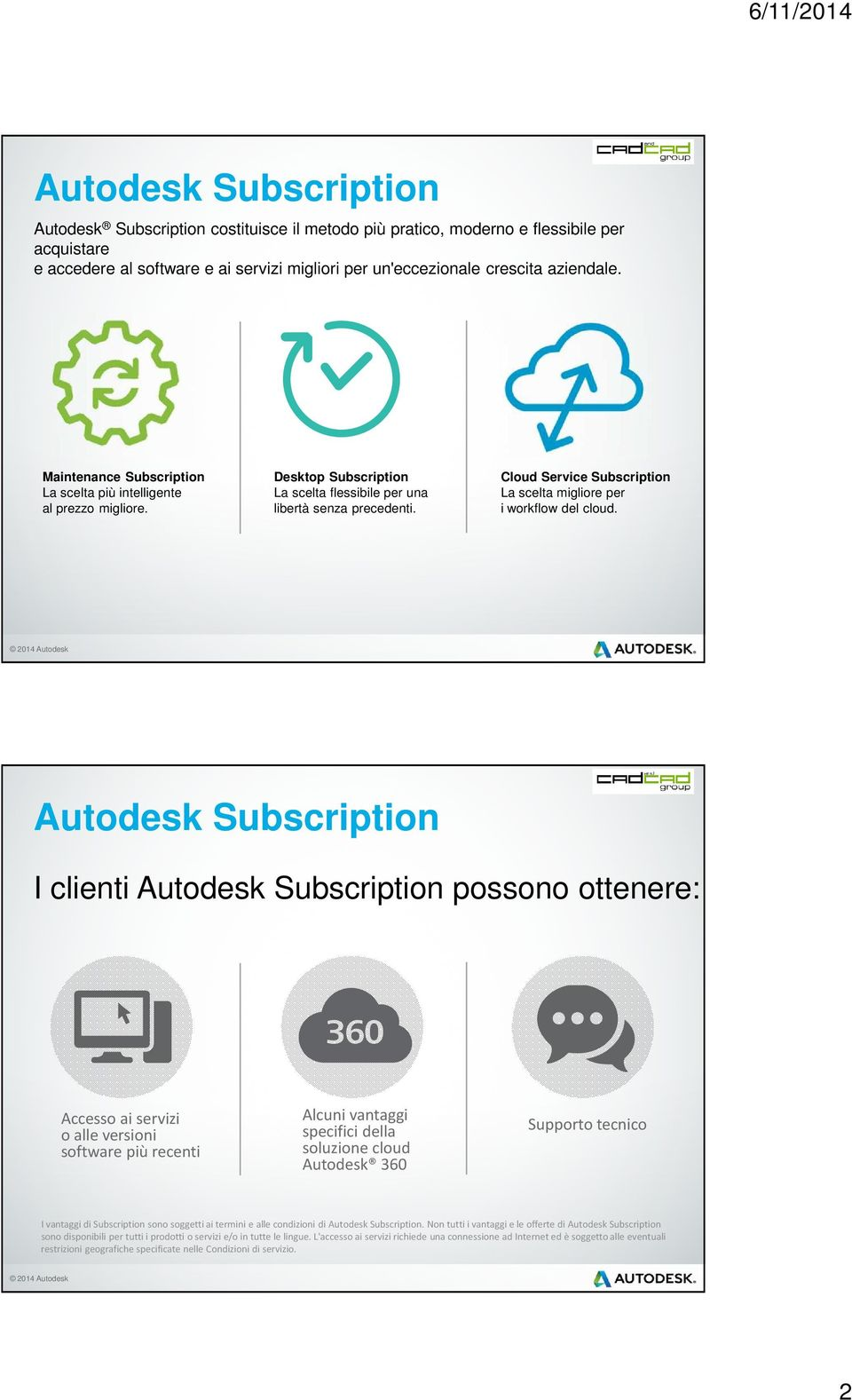 Cloud Service Subscription La scelta migliore per i workflow del cloud.