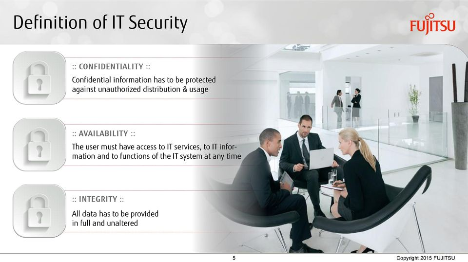 have access to IT services, to IT information and to functions of the IT system at any