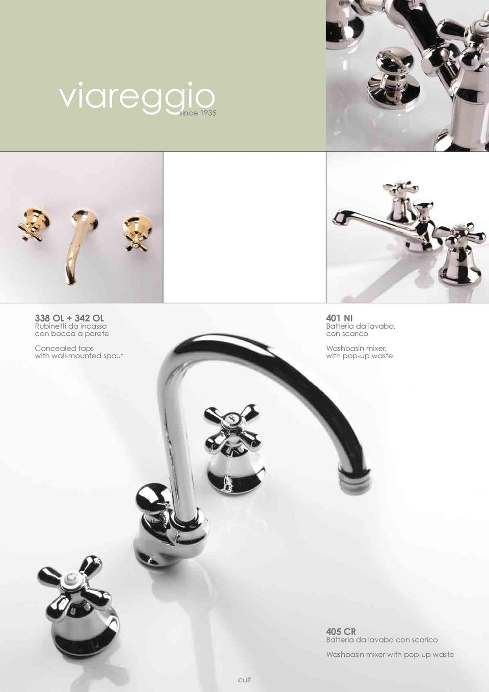 Batteria da lavabo, con scarico Washbasin mixer, with pop-up