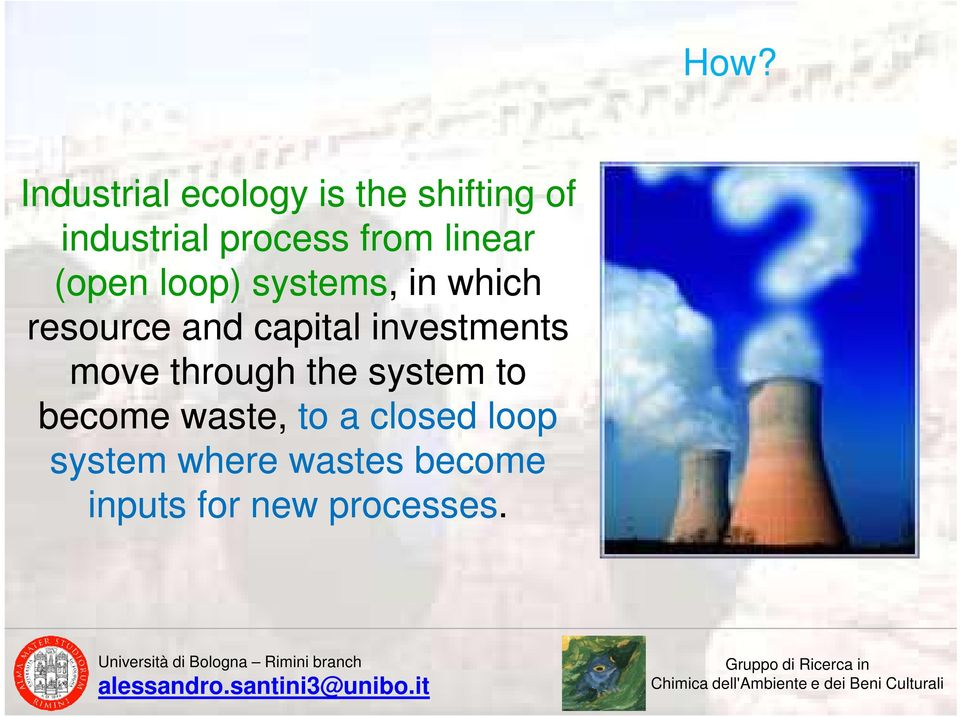 capital investments move through the system to become waste,