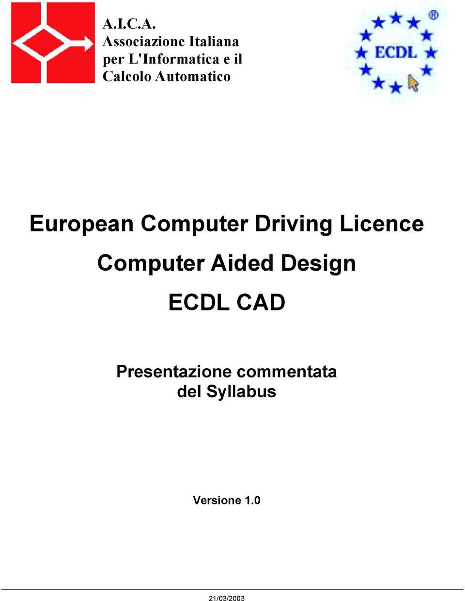 Licence Computer Aided Design ECDL CAD