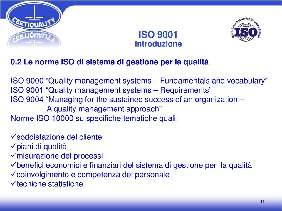 Quality management systems Requirements ISO 9004 Managing for the sustained success of an organization A quality management