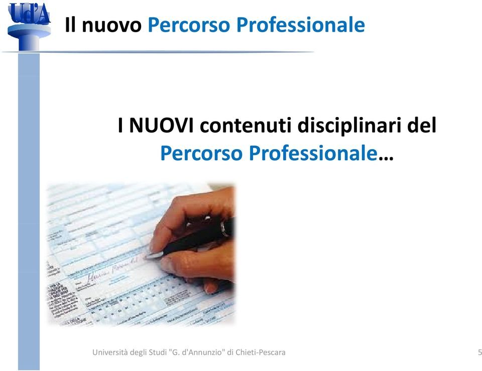 Percorso Professionale Università