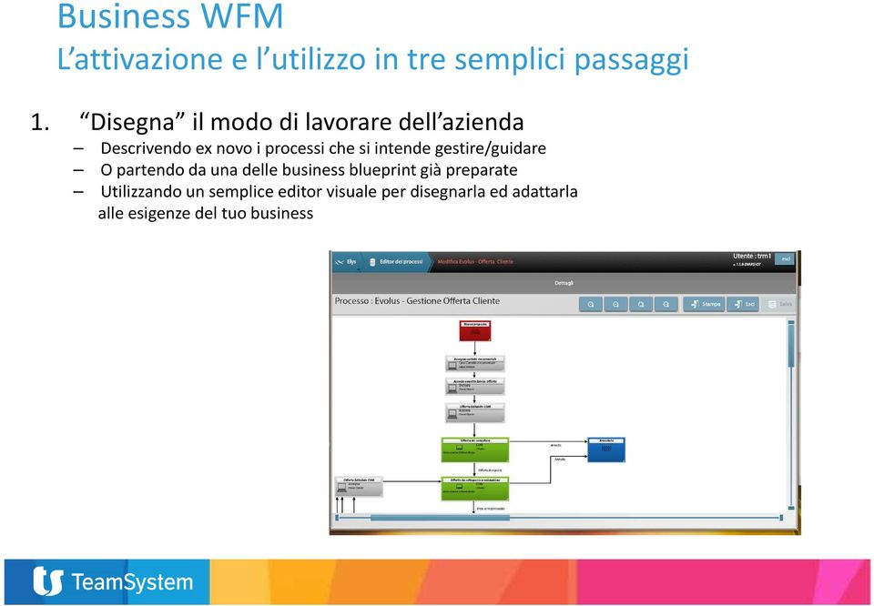 si intende gestire/guidare O partendo da una delle business blueprint già