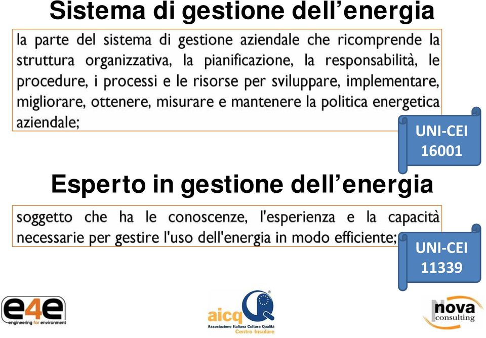 gestione dell energia