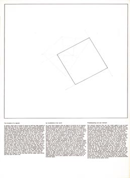 22. Location of three geometric figures, Hamburg, Brussels, Hossman, Yves Gevaert, 1974; 43x29 cm., cartella editoriale, pp.