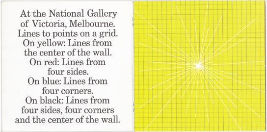 38. Wall Drawings in Australia, Melbourne, John Kaldor - National Gallery of Victoria, 1977; cm. 17,7x18, brossura, pp.