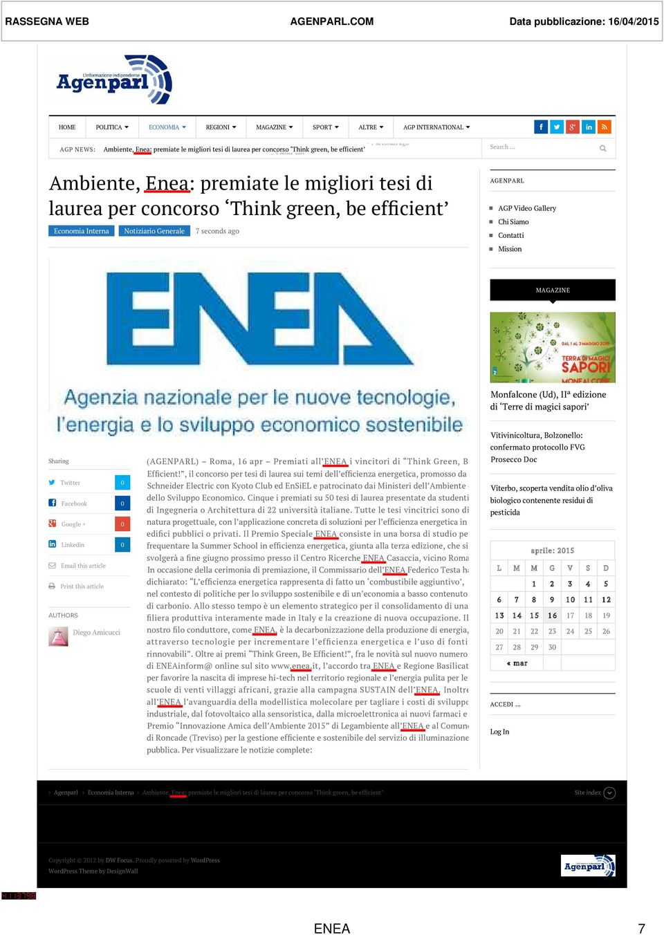 tesi di laurea per concorso Think green, be efficient - 3 mins ago Search Ambiente, Enea: premiate le migliori tesi di laurea per concorso Think green, be efficient Economia Interna Notiziario