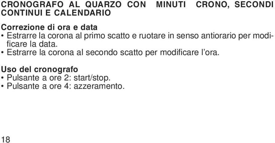 per modificare la data.