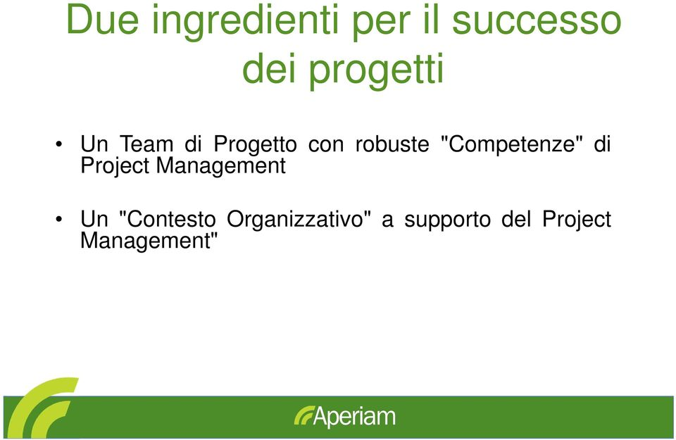 """Competenze"" di Project Management Un"